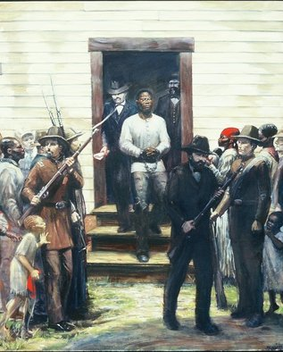 Joseph Weinzettle Artwork The Last Moments of Nat Turner, 1997 Oil Painting, History
