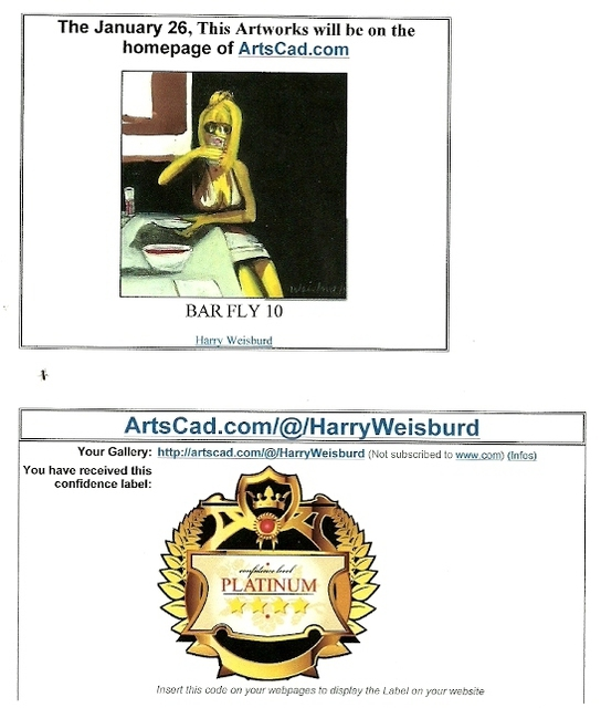 Harry Weisburd  'Bar Fly 10  Platinum Award ', created in 2012, Original Pottery.