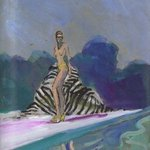 Bikini Babe With Zebra Towel By Pool, Harry Weisburd