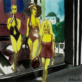 California Style 2 Koral Goddesses Window  By Harry Weisburd