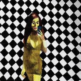Checkerboard Selfie, Harry Weisburd