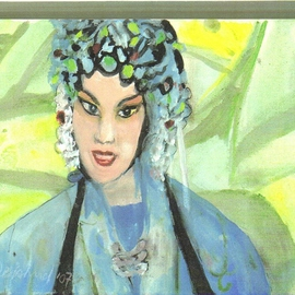 Chinese Opera Singer in Blue By Harry Weisburd