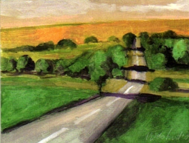 Harry Weisburd  'Country Road', created in 2010, Original Pottery.