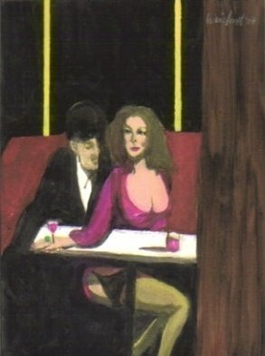 Artist: Harry Weisburd - Title: DRINKS FOR TWO - Medium: Watercolor - Year: 2007