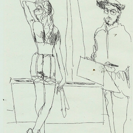 Degas Sketching Model, Harry Weisburd