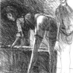 Degas sketching bending Model By Harry Weisburd