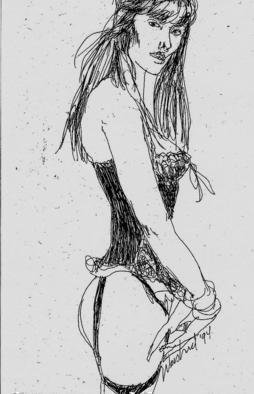 Harry Weisburd: 'Eve', 1994 Pen Drawing, Figurative. Artist Description:                Pen and Ink drawing of EVE           ...