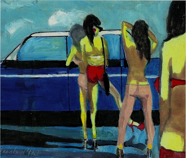 Harry Weisburd  'Girls Buying Used Car Kicking The Tires', created in 2014, Original Pottery.