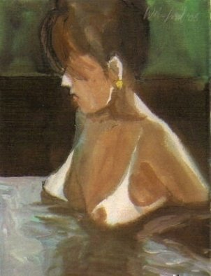 Artist: Harry Weisburd - Title: HOT TUB BABE - Medium: Watercolor - Year: 2007