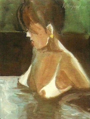 Artist: Harry Weisburd - Title: Liz In Hot Tub - Medium: Watercolor - Year: 2006