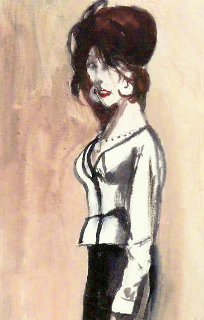 Harry Weisburd  'Marie In White Blouse', created in 2012, Original Pottery.