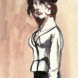 Marie In White Blouse  By Harry Weisburd