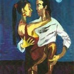 NIGHT LOVERS   3D painting By Harry Weisburd