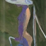 Nude In White Hat With Ribbons, Harry Weisburd