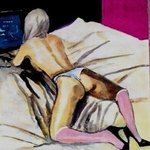 Nude In Bed Watching Laptop  4, Harry Weisburd