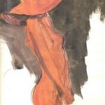 Nude in  Orange Hat By Harry Weisburd