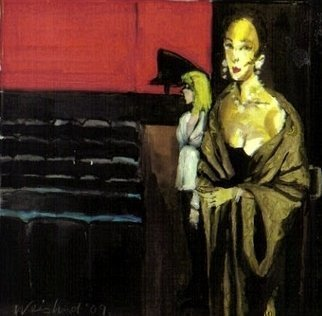 Harry Weisburd: 'Opening NIght', 2010 Watercolor, Theater. Artist Description:    opera, play, dance, theatre, woman, realism, figurative, , female,             ...