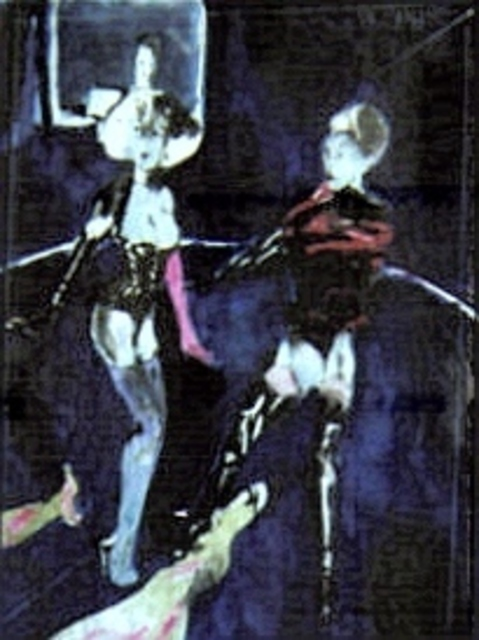 Harry Weisburd  'Pole Dancers', created in 2000, Original Pottery.