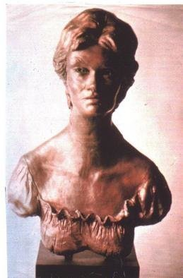 Bronze Sculpture by Harry Weisburd titled: Portrait of LORI, created in 1999
