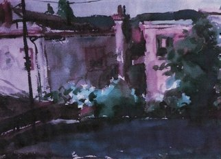Harry Weisburd: 'Rooftops', 2015 Watercolor, Cityscape.                           Rooftops of city buildings. ...