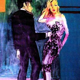 See Thru Black Lace Dress With Man  By Harry Weisburd