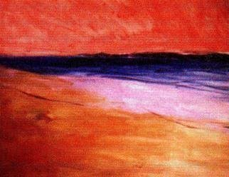 Harry Weisburd: 'Sunset At Beach ', 2015 Watercolor, Landscape.        Sunset at the beach                 ...