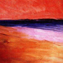 Sunset At Beach , Harry Weisburd