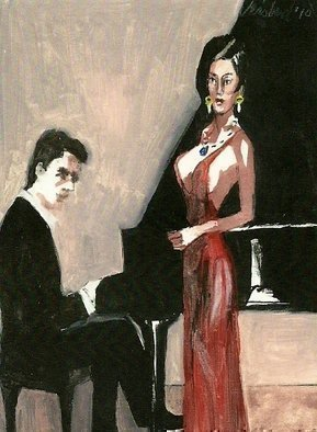 Artist: Harry Weisburd - Title: The Recital 3D - Medium: Watercolor - Year: 2010