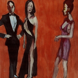 Two Woman and Man   By Harry Weisburd