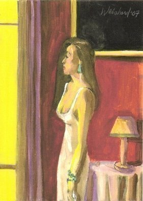 Artist: Harry Weisburd - Title: WOMAN BY SUNLIT WINDOW - Medium: Watercolor - Year: 2007