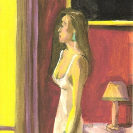 WOMAN BY SUNLIT WINDOW By Harry Weisburd