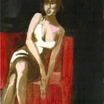 WOMAN IN A RED CHAIR By Harry Weisburd