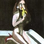 Woman Eating A Banana By Harry Weisburd