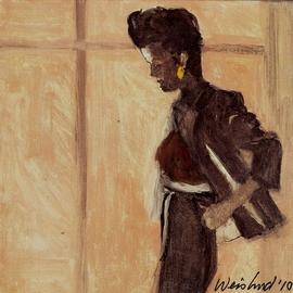 Woman In Gray Dress
