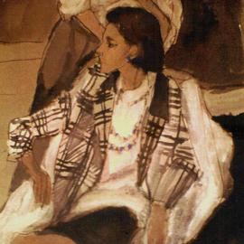 Woman In Plaid Jacket By Harry Weisburd