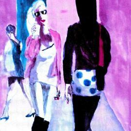 Woman In Polka Dot Skirt