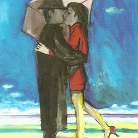 Woman In Red Beach Romance  3D