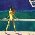 Woman In White Bikini On Home Deck 3D By Harry Weisburd
