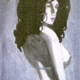 Woman With Dark Hair  By Harry Weisburd