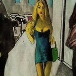 Woman With Pnk Cell Phone By Harry Weisburd
