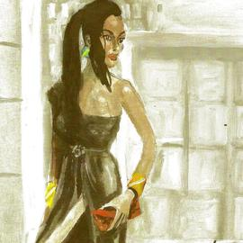 Woman With Red Handbag  By Harry Weisburd