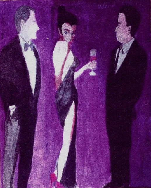 Harry Weisburd Woman in Backless Dress With Drink  2015