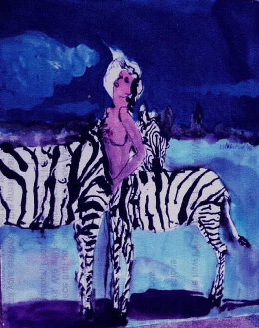 Artist Harry Weisburd. 'Zebra Woman ' Artwork Image, Created in 2015, Original Pottery. #art #artist