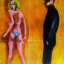 artists and blonde model By Harry Weisburd