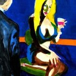 blonde bar fly happy hour By Harry Weisburd