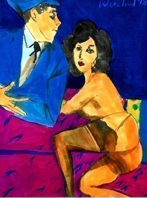 Harry Weisburd: 'homage to egon schiele', 2018 Watercolor, Nudes. Homage to Egon Schiele...