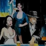 homage to manet au cafe By Harry Weisburd