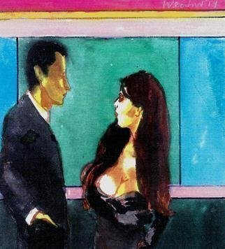 Harry Weisburd: 'looking for mr right 20', 2014 Other, Figurative. Happy Hour, man woman looking for love and romance...