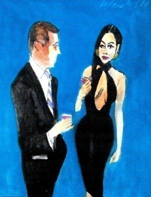 Harry Weisburd: 'looking for mr right 39', 2017 Acrylic Painting, Figurative. Artist Description: Sensual sexy woman looking for Mr Right guy...