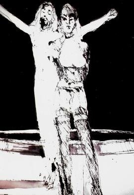 Harry Weisburd Artwork salome homage to beardsley, 2015 Ink Drawing, Figurative
